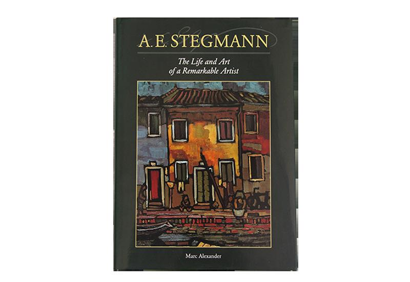 Bok om kunstneren A. E. Stegmann. Bilde.