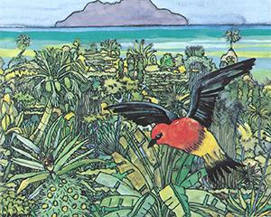Maleri av Stegmann - Red Cardinal. Bilde.