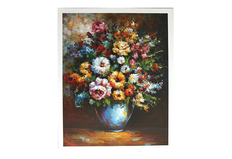 Reproduksjon, Flowers In Vase. Bilde.