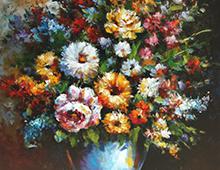 Reproduksjon, Flowers In Vase, thumb. Bilde.
