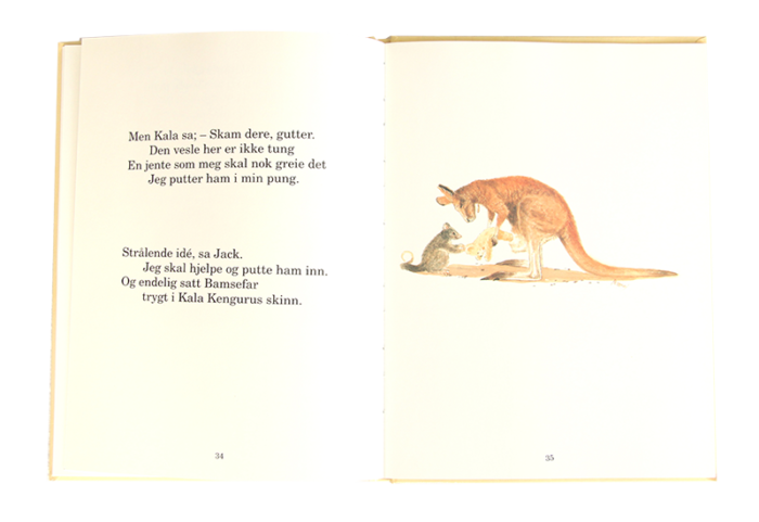 Åpen barnebok, Teddys natt i villmarken_thumb. Bilde