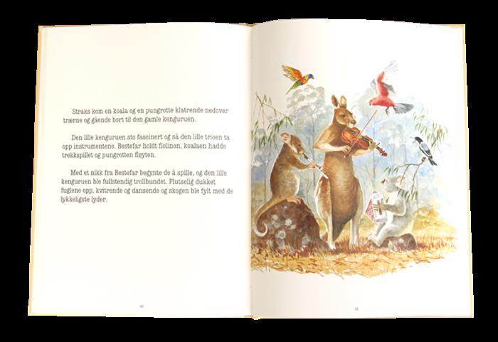 Åpen barnebok, Gamle Billy. Bilde.