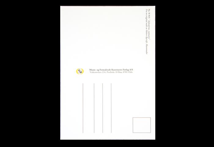 Bakside av postkort. Bilde.