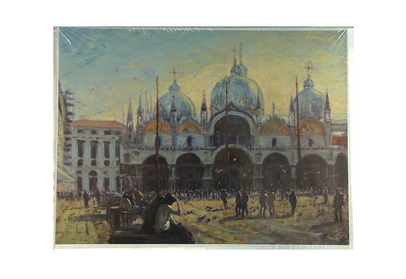 Puslespill med motiv av Piazza San Marco i Venezia. Bilde.