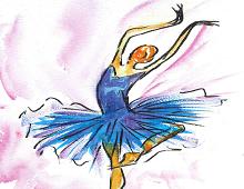 Ballerina på tå hev. Bilde.