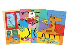 Maleboksett til barn i alle aldre, med inspirerende farger og bilder. Bilde.