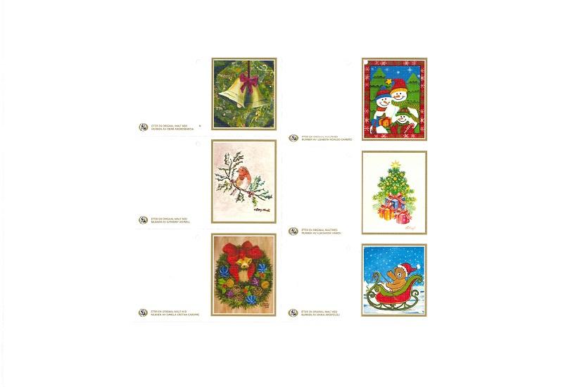 Til og fra bilder med diverse julemotiv. Bilde.