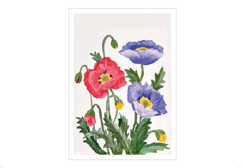 Enkeltkort med blomster. Bilde.