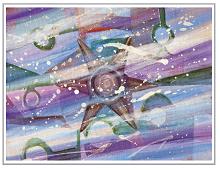 Dobbeltkort med stjernefantasi. Bilde.