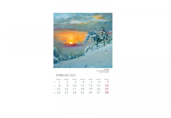 Bilde av februar i Kunstkalender 2021. Bilde.
