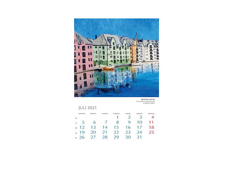 Bilde av juli i Kunstkalender 2021. Bilde.
