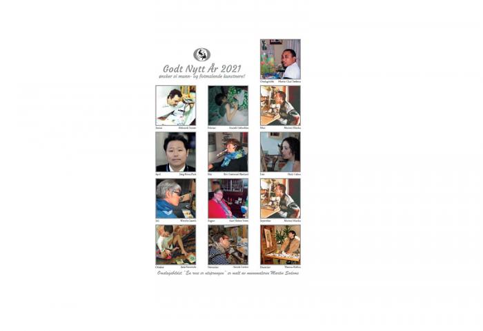 Bilde av kunstnerne i Kunstkalender 2021. Bilde.