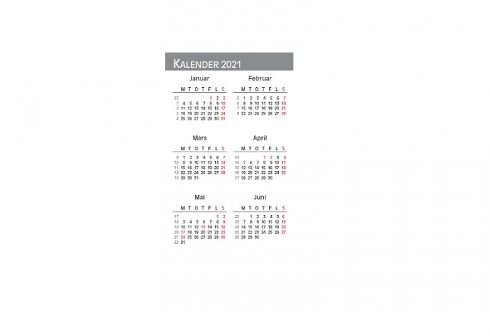 Lommekalender med bilde av måneder. Bilder.
