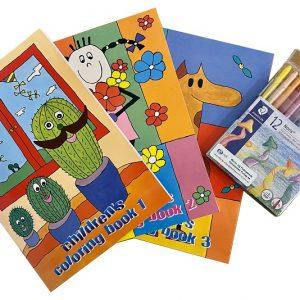 Fargebøker med fargestifter fra Staedtler.