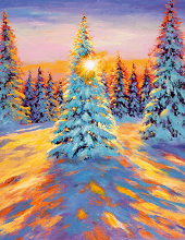 Dobbelt kort med nydelig vintermotiv. Bilde.